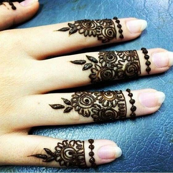 Attractive Ring Mehndi Designs For Fingers