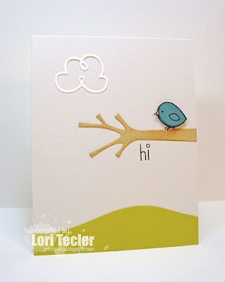 Hi card-designed by Lori Tecler/Inking Aloud-stamps and dies from Paper Smooches