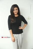 Telugu Actress Mishti Chakraborty Latest Pos in Black Top at Smile Pictures Production No 1 Movie Opening  0002.JPG