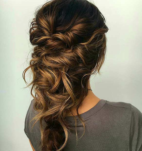 MESSY TWISTS prom hairstyle ideas for long hair