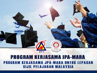 Biasiswa JPA MARA 2016 Untuk Lepasan SPM