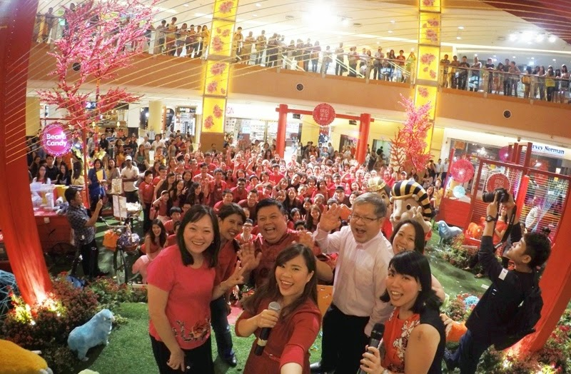Largest Year Of Sheep Gathering, Cherry Woolly Spring 2015, Sunway Pyramid, Shopping Mall Chinese New Year Deco, CNY Deco