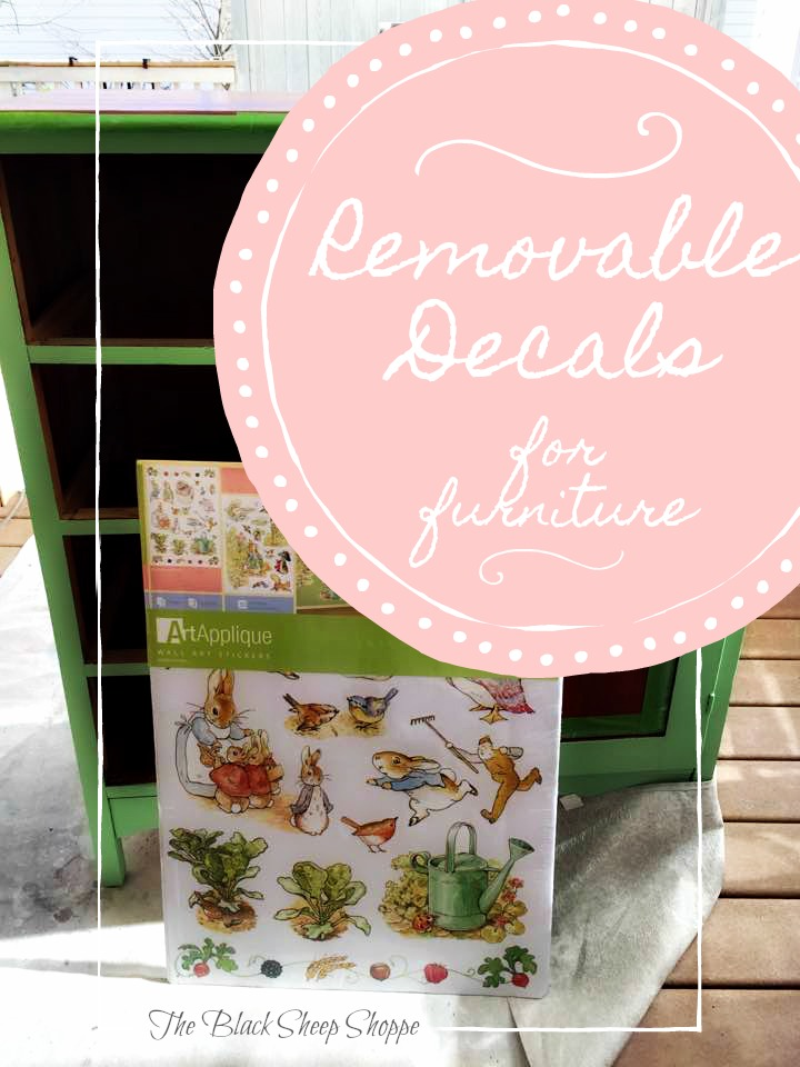 Use removable decals to create custom furniture for kids.