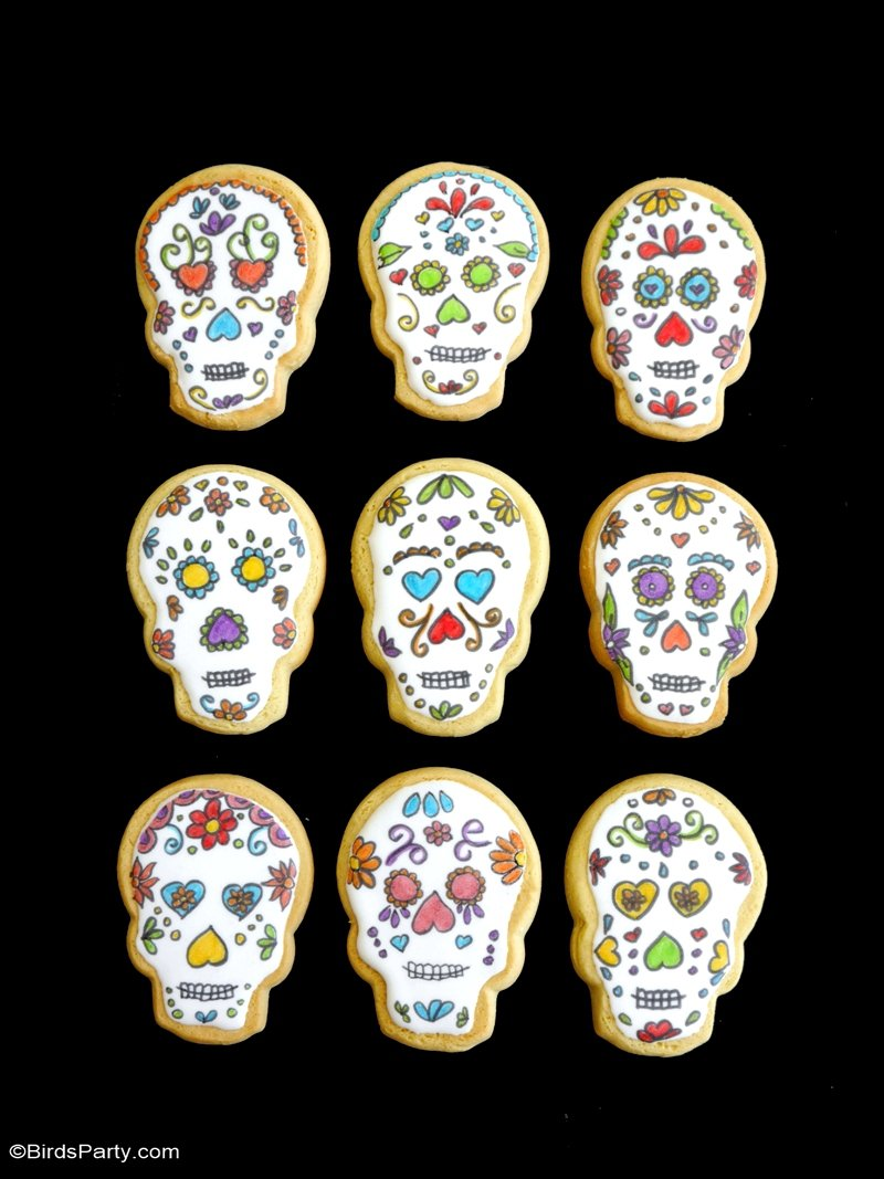 Sugar Skull Cookies Recipe Party Ideas Party Printables Blog