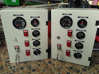 Melayani service dan pembuatan panel kontrol engine pump