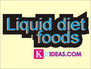 Liquid Diet Foods