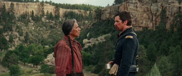 Wes Studi and Christian Bale hostiles