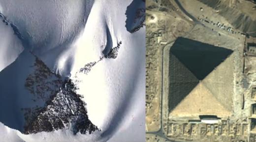 Investigador descubre una enorme pirámide en la Antártida utilizando imágenes por satélite