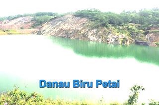 danau biru desa petai kuansing