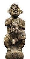 Enano bufón. Vasija de barro procedente de Herculano. Siglo I