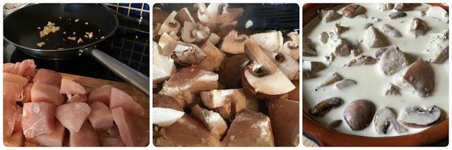lactose free cream chicken and mushroom bake