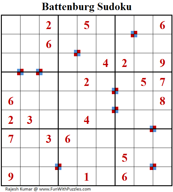 Battenburg Sudoku (Fun With Sudoku #215)