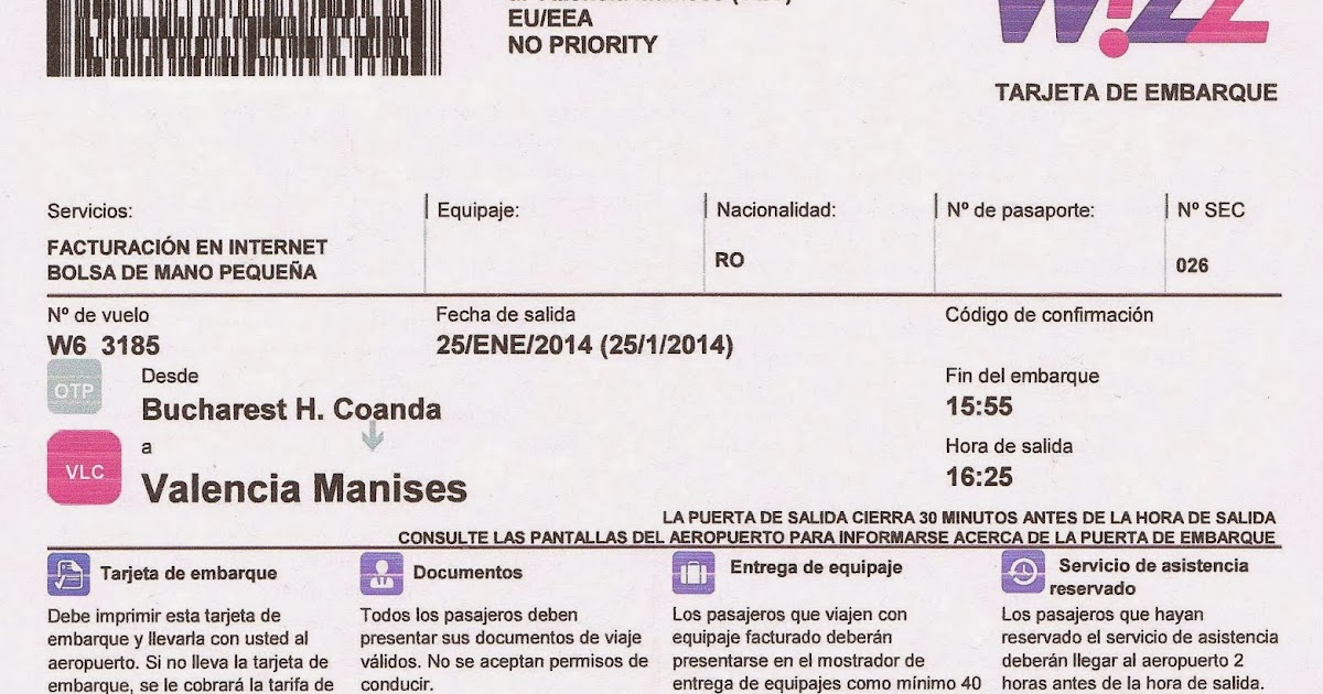 carta dimbarco wizzair