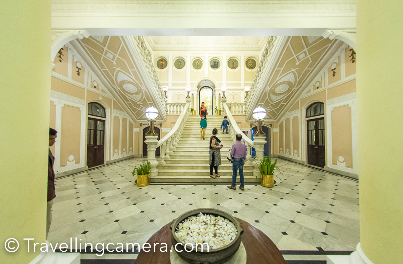 Lalitha Palace has grand reception and everyone was welcomed with showers of flower petals and tilak.
