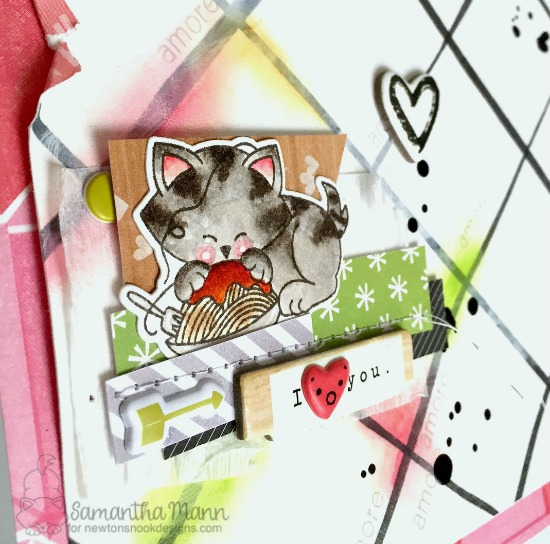Spaghetti Love Scrapbook Layout by Samantha Mann | Newton Dreams of Italy Stamp set by Newton's Nook Designs #newtonsnook