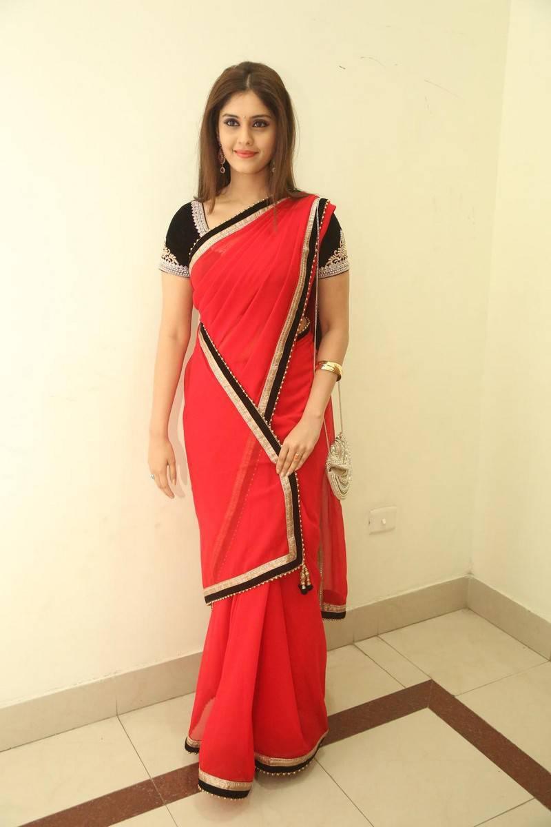 Surabhi Latest Saree Photos At Express Raja Movie Audio