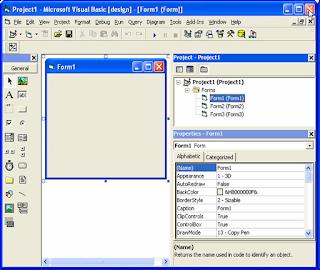 semua objek-objek standar yang ada di visual basic  6.0 berikut dengan Properti, event dan metode yang digunakan