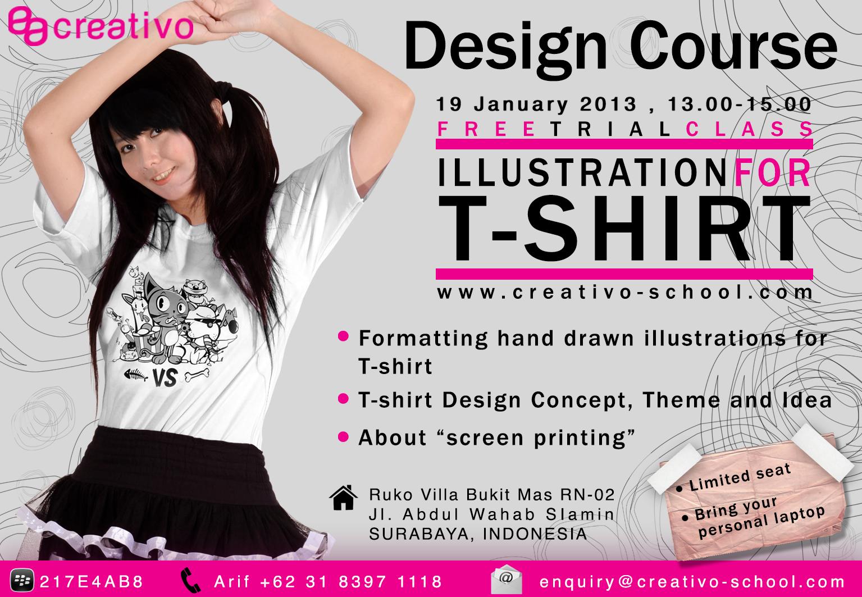 Shirt design course - Kalo Kalian Pernah Bertanya Tanya Cara Bikin Ilustrasi Atau Gambar Di T Shirt Seperti Di Distro Atau Lomba Desain T Shirt Jangan Ragu Ikut Trial Class Kami