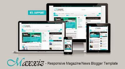 Maxxiz Lite Magazine/News Responsive Blogger Template
