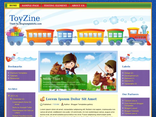 ToyZine Blogger Template