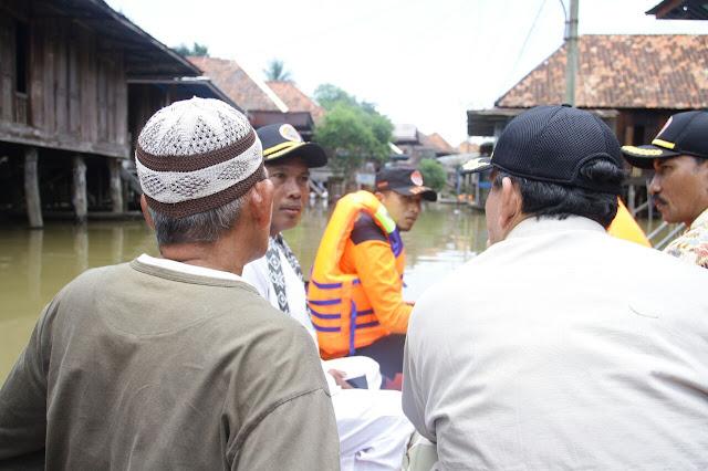 Plt Bupati Muba Tinjau Lokasi Banjir di Petaling