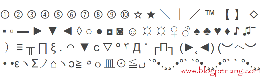 Kumpulan Simbol-Simbol / Karakter Teks Unik (Special Characters)