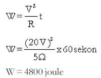 Pengertian dan Rumus Energi Listrik serta Contoh Soal Energi Listrik