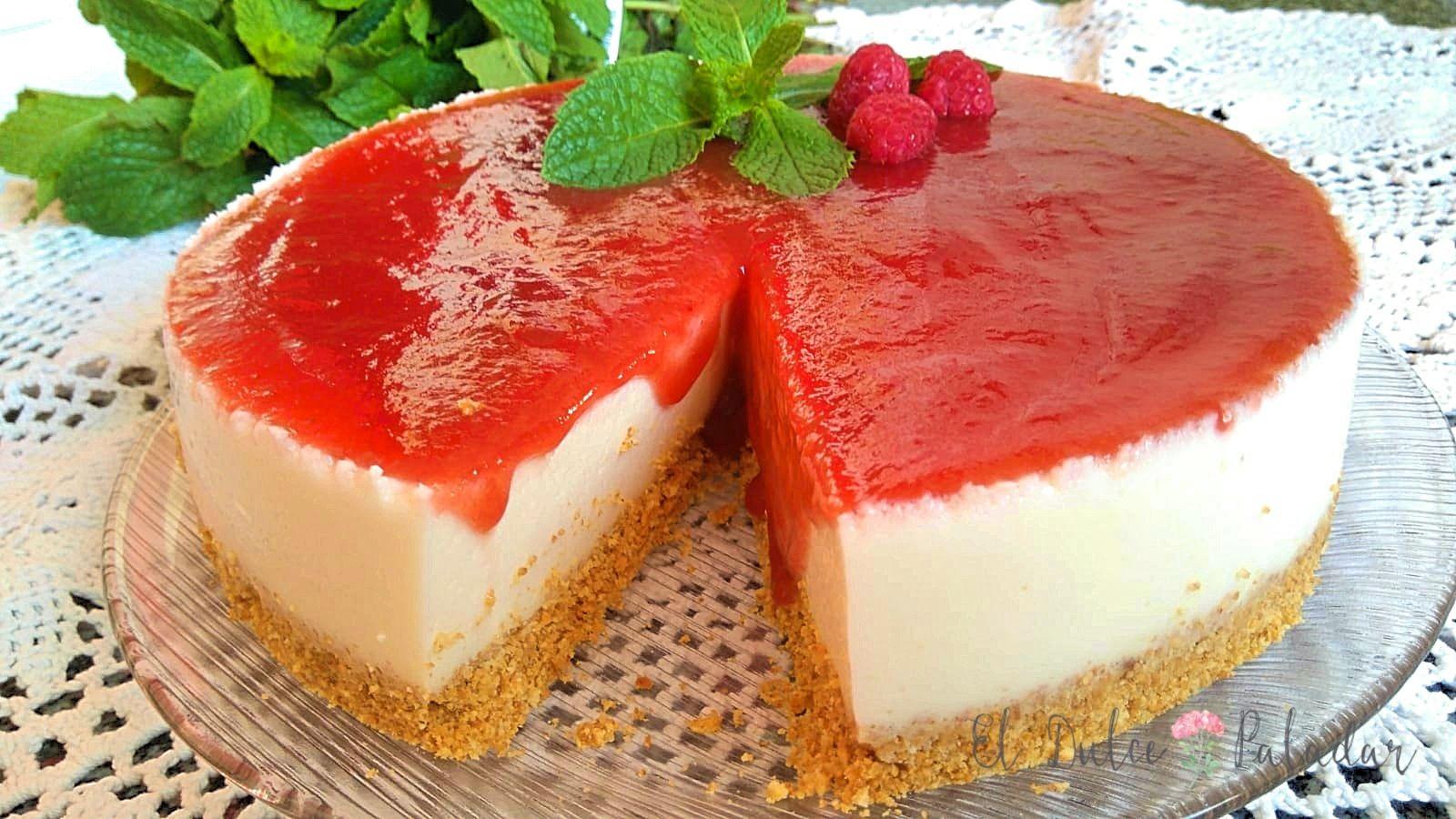 Receta tarta de queso facil sin horno