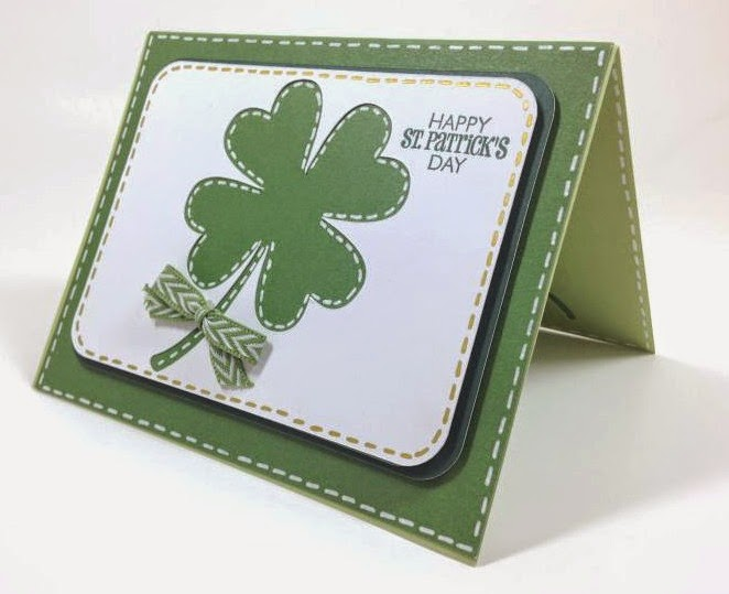 Cricut Artfully Sent St. Patrick's day POP-UP card sideview