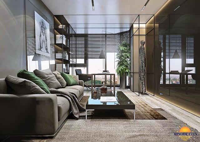 phòng khách dự án Hinode City