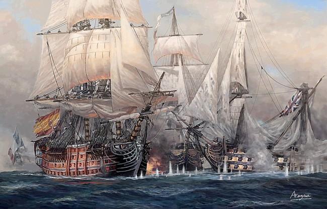 Batalla de Trafalgar. El gran duelo
