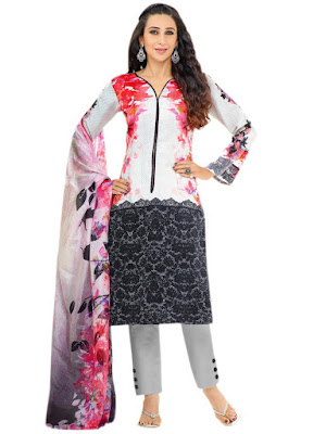 Moufizz Pakistani Style Lawn Cotton Dress Material