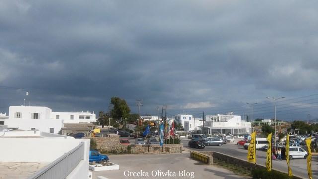 greckie pochmurne niebo