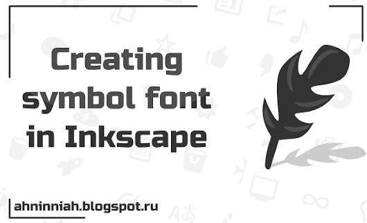 Creating symbol font in Inkscape