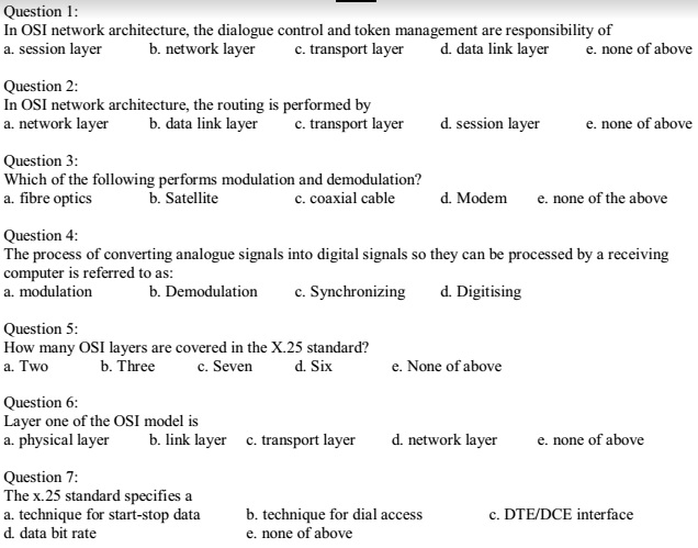 Computer Networking Multiple Choice Questions And Answers Mcqs Pdf