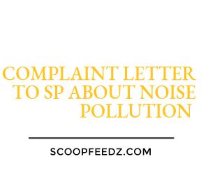 noise pollution complaint letter
