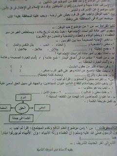 نماذج امتحانات اللغة العربية للصف الخامس الابتدائي الترم الاول طبقا لمواصفات الورقة الامتحانية 2017_2018