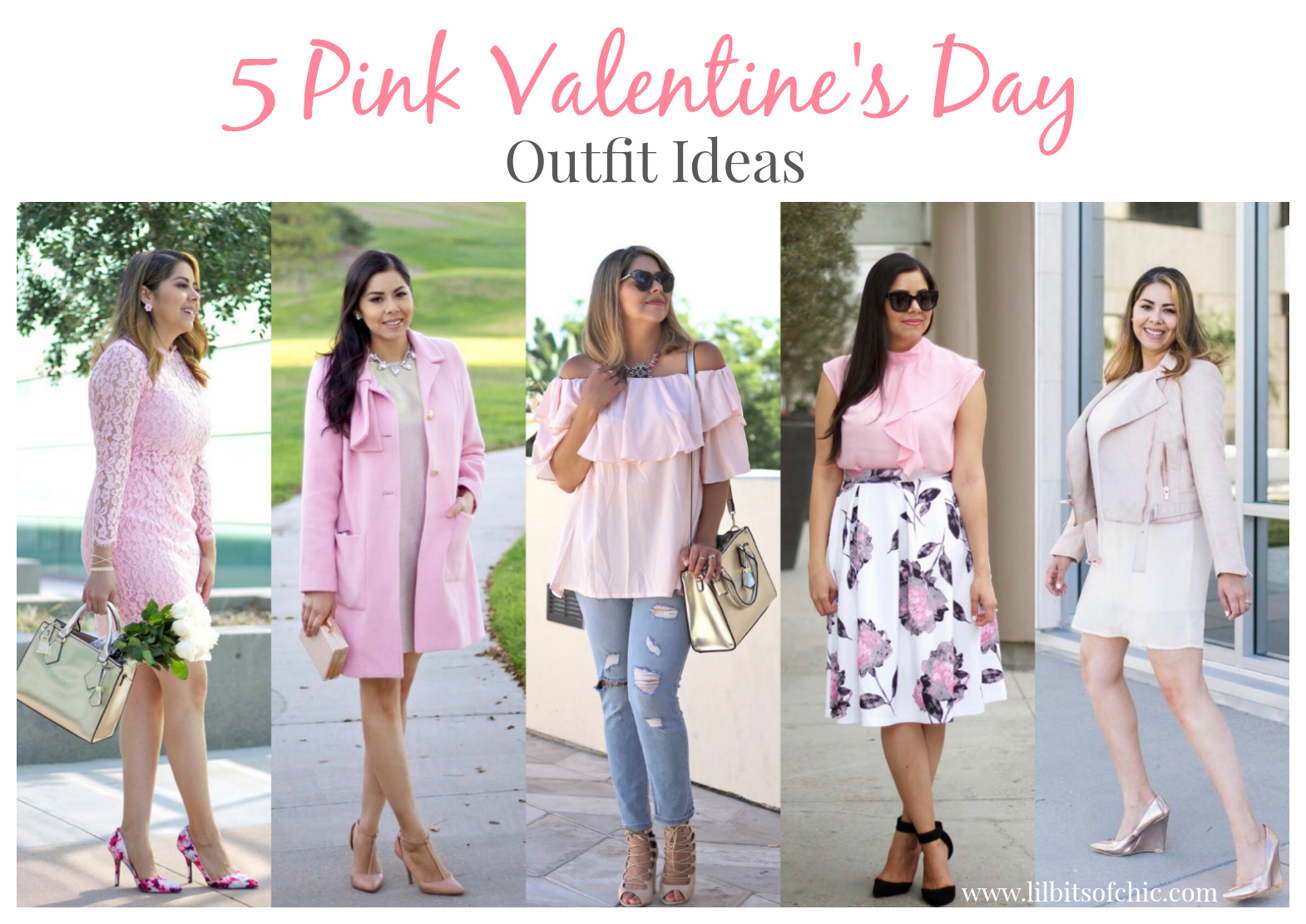 5 pink vday look ideas, valentine's day lookbook, vday looks