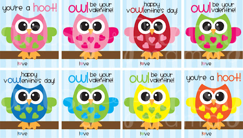 graphic relating to Owl Printable titled Cost-free Printable Owl Valentines artsy-fartsy mama