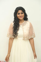 Megha Akash in beautiful Cream Transparent Anarkali Dress at Pre release function of Movie LIE ~ Celebrities Galleries 004.JPG
