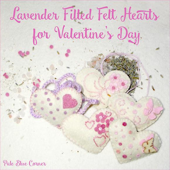 Lavender Filled Felt Hearts for Valentine's Day