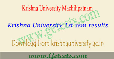 Krishna University degree 1st year results Oct/Nov 2017,Krishna University degree 1st year 1st sem results Oct/Nov 2017