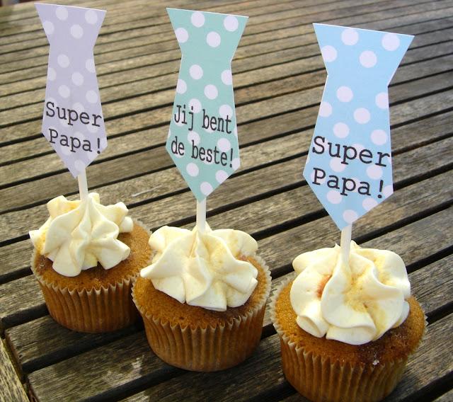 Vaderdag cupcake toppers Annekoendigitaal
