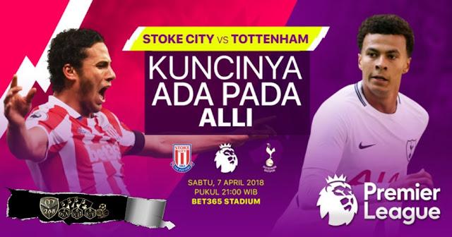 Prediksi Stoke City Vs Tottenham Hotspur, Sabtu 07 April 2018 Pukul 21.00 WIB