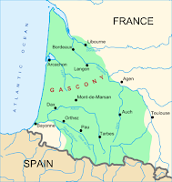 Map of Gascony