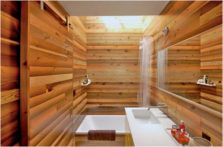 Kleine Japanische Badezimmer Gestaltung Ausgerüstet Dusche Mit Kleinem