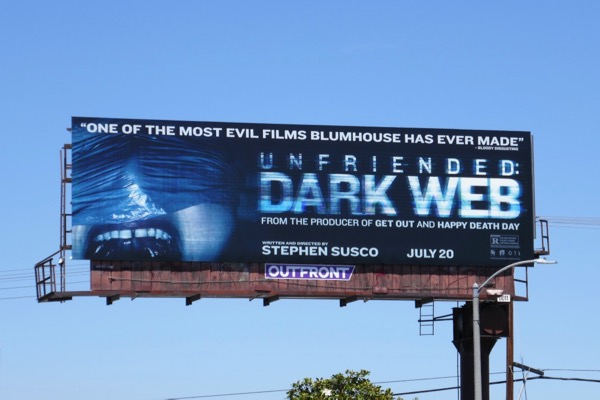 Unfriended Dark Web film billboard