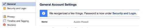 Suspending A Facebook Account