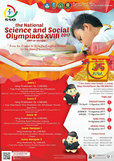 Science and Social Olympiads (SSO) 2017 [Hadiah 35 Jt]