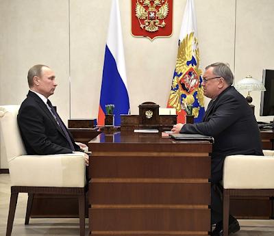 Vladimir Putin, Andrei Kostin.